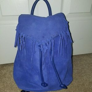 Topshop Suede Fringe Backpack